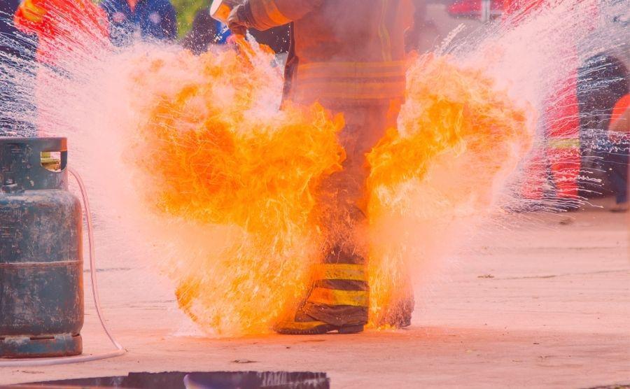 Formación técnico contra incendios